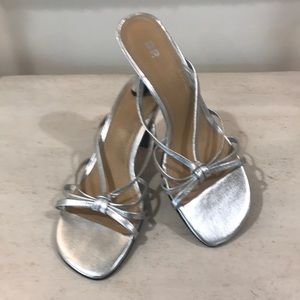 BP. Nordstrom's Silver Strappy Sandals Size 8.5M